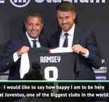 Ramsay speaks Italian at Juventus unveiling