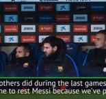 Valverde explains why Messi was rested for derby