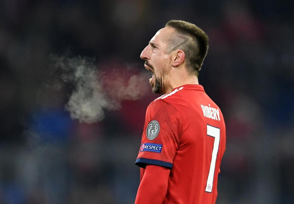 Franck Ribery angrily defends his golden steak on social media