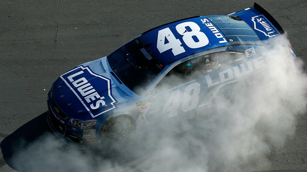 Jimmie Johnson earns 76th NASCAR win, tying Dale Earnhardt