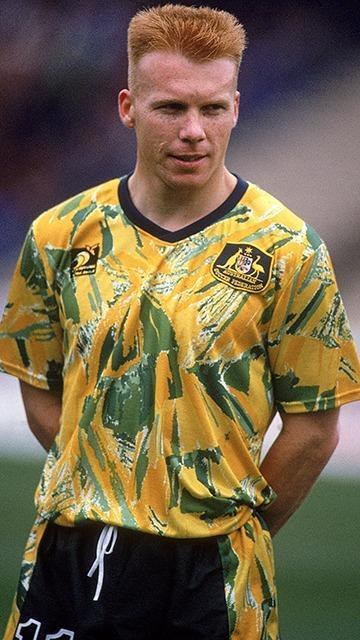 bd83b17af This shirt looks like it was used to clean the toilets at Flemington on  Melbourne Cup day. The Socceroos wore it during their 1994 FIFA World Cup  qualifying ...
