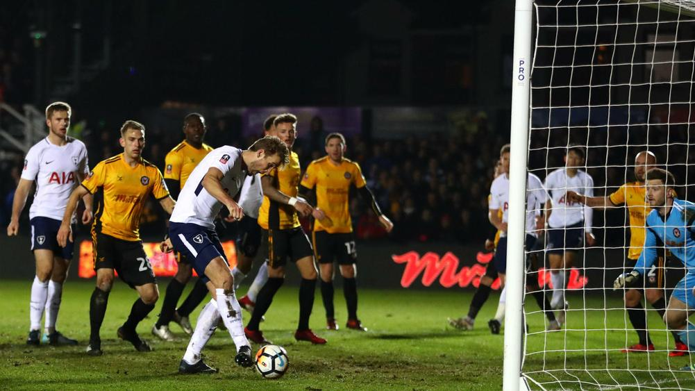 Harry Kane rescues Tottenham with late equaliser at Newport County