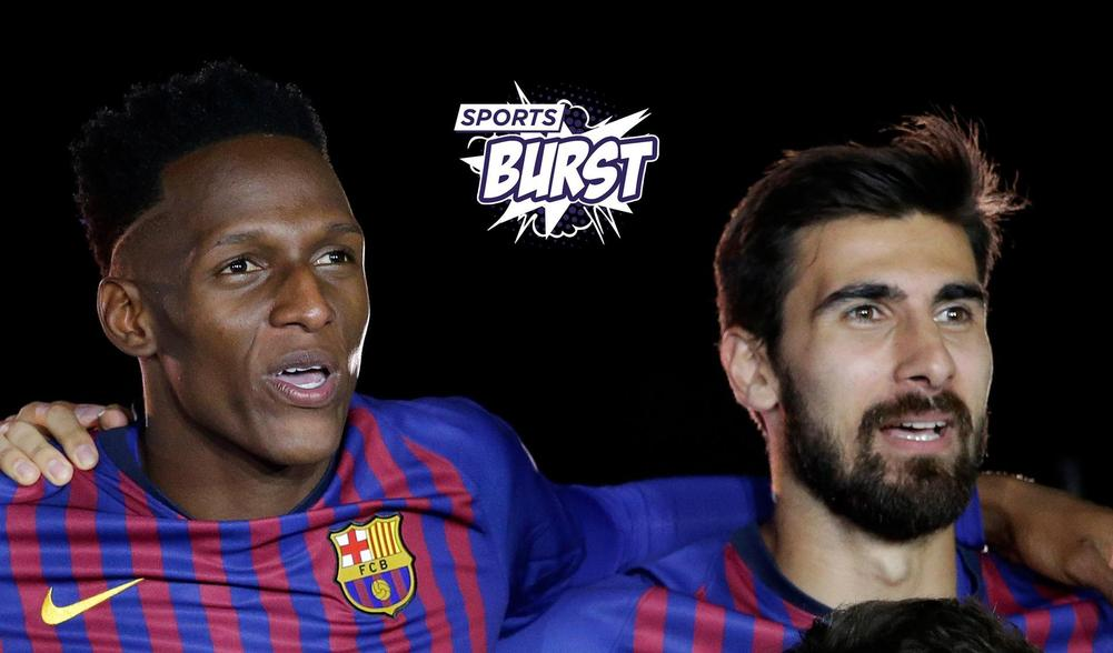 Yerry Mina and Andre Gomes take medicals in Barcelona