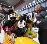 Germany nail gold and silver in four-man Olympic bobsleigh