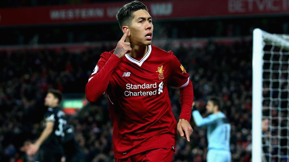 Firmino nets double as Liverpool runs riot