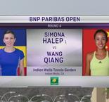 Indian Wells: SIMONA HALEP vs QIANG WANG
