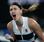 Awesome Kvitova ends Barty's home run in Melbourne