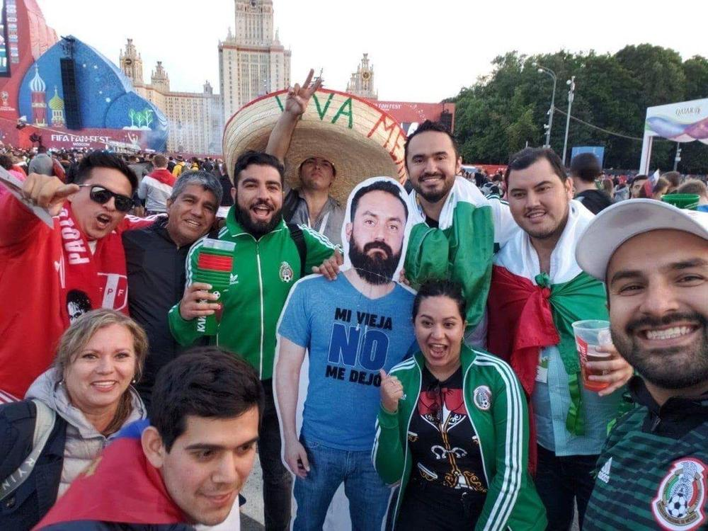 Cardboard cutout of Mexico fan goes viral