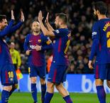 Messi fires Barca to quarters in five-goal rout