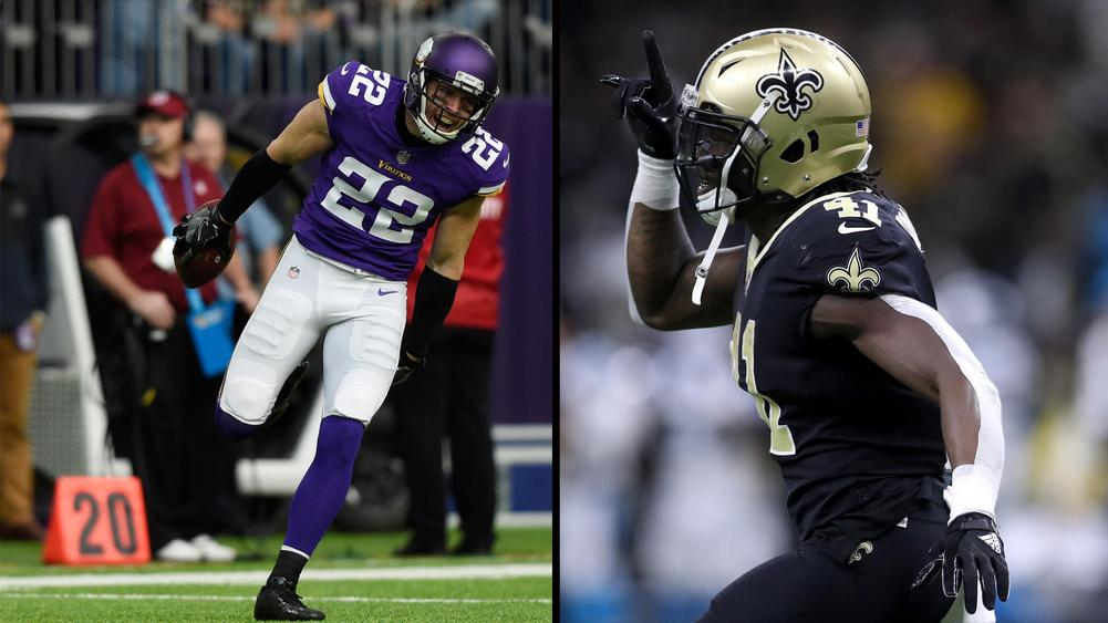 Harrison Smith (left) and Alvin Kamara