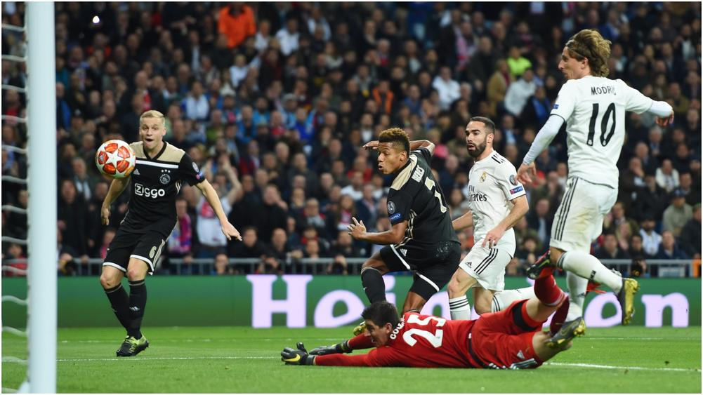 Image result for real madrid 1-4 ajax + courtois