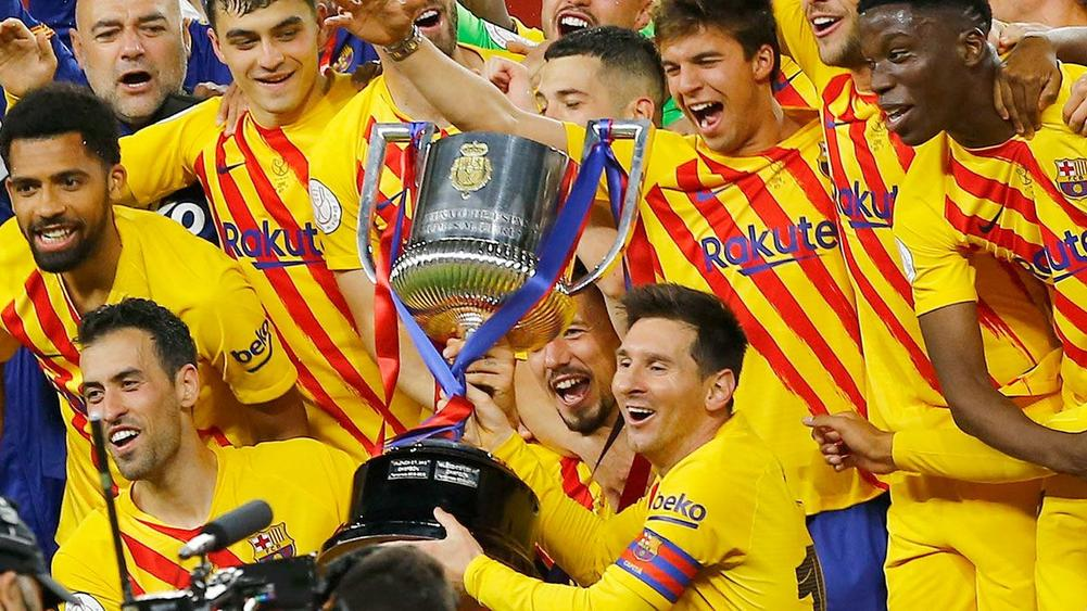 Messi double inspires Barca to Copa del Rey glory