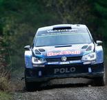 Ogier holds off Meeke to lead Wales Rally GB