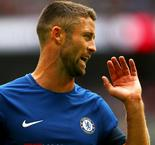 Gary Cahill sent off 14 minutes into Chelsea's title defence