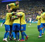 Brazil breezes into last eight with five-star rout