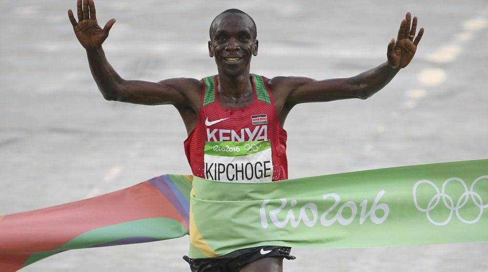 Kenya's Kipchoge triumphs in men's marathon