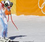America's Vonn misses medal in Olympic super-G