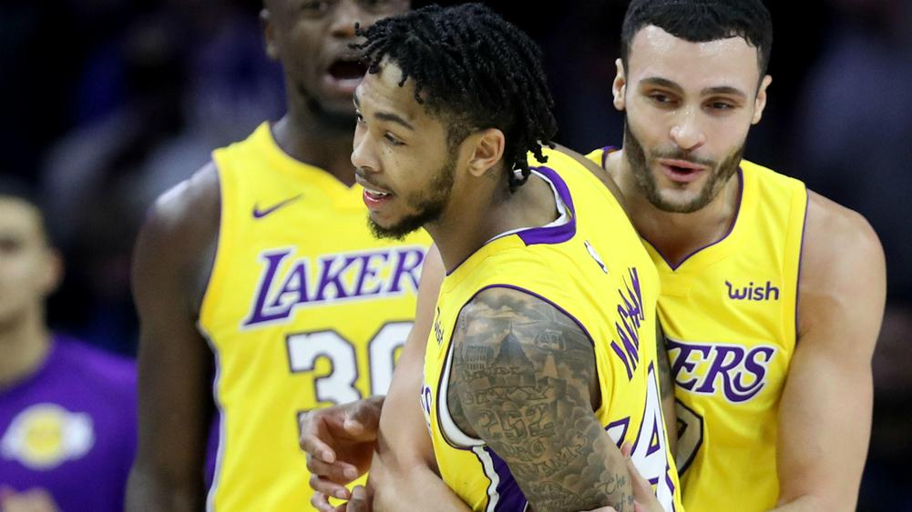 Ingram Drills Last-Second 3-Pointer; Lakers Top 76ers 107-104