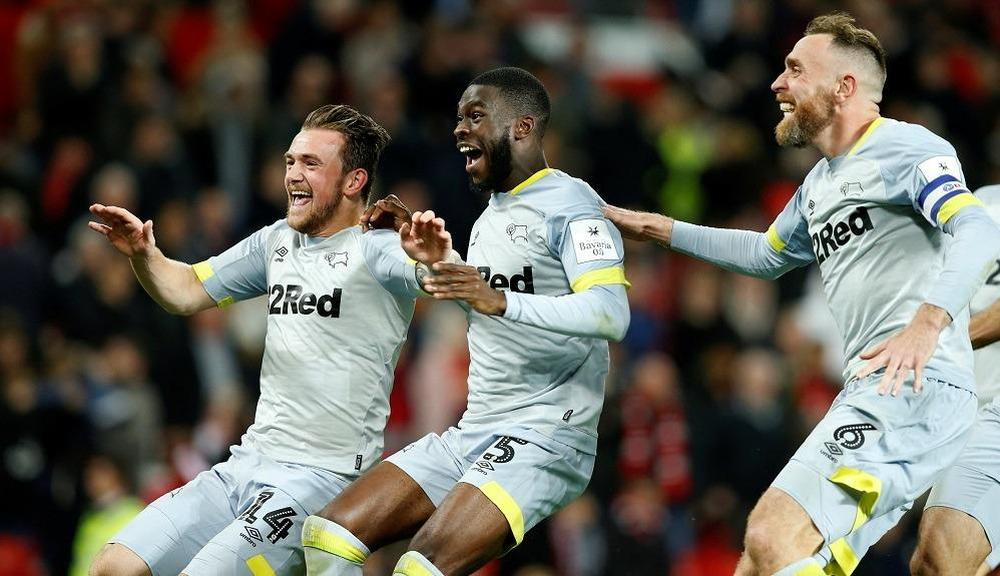 United knocked out of the League Cup by Derby