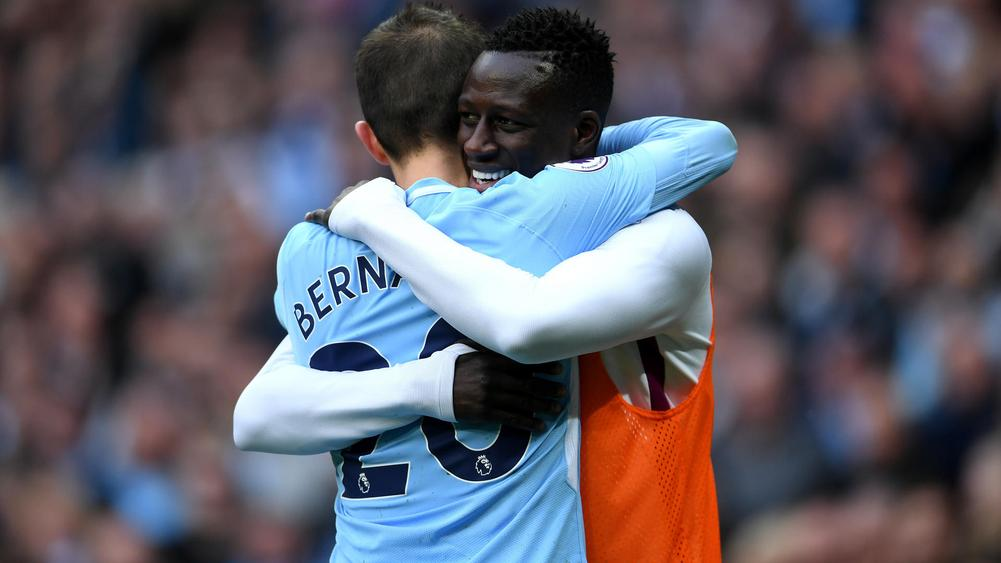 Benjamin Mendy eager to win his Manchester City place back as he hails  Fabian Delph's form in his absence