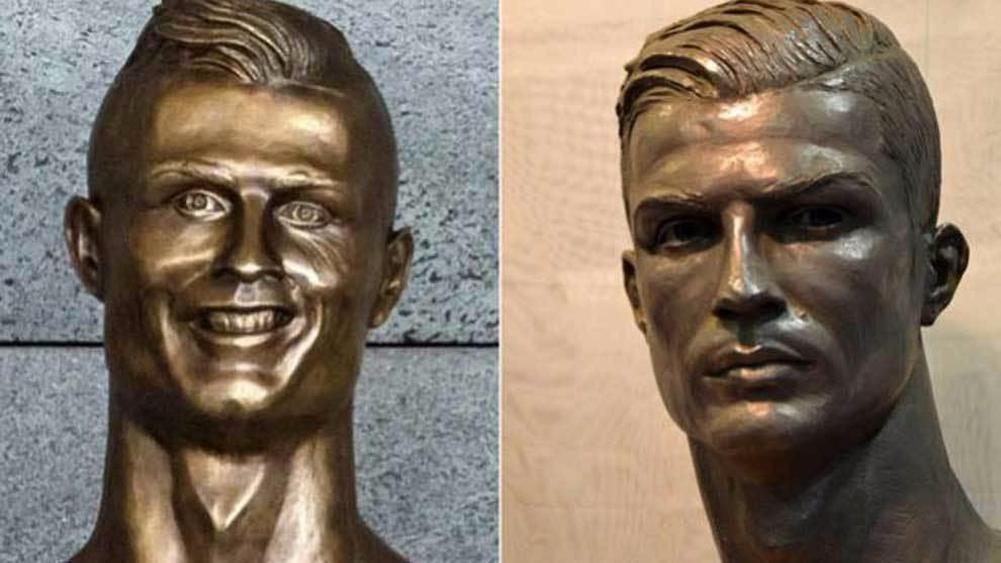 Ronaldo finally gets a statue that resembles his face
