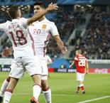 Spain squanders two-goal lead in Russia draw