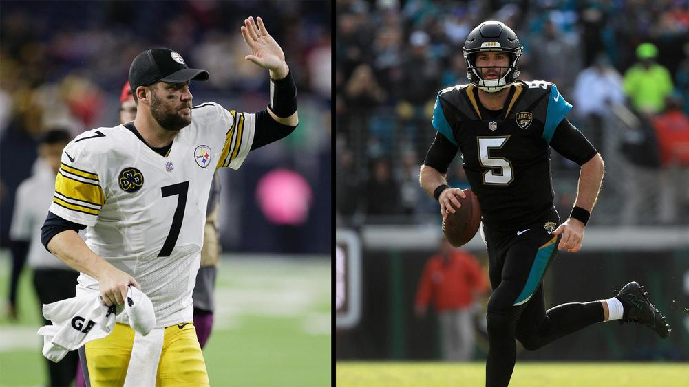 Ben Roethlisberger (left) and Blake Bortles