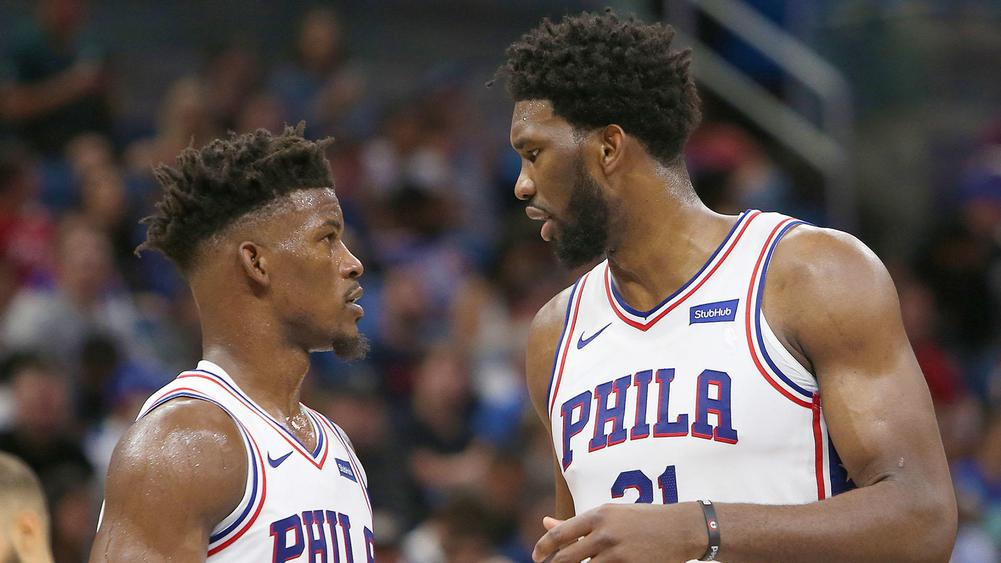 Jimmy Butler (left) and Joel Embiid