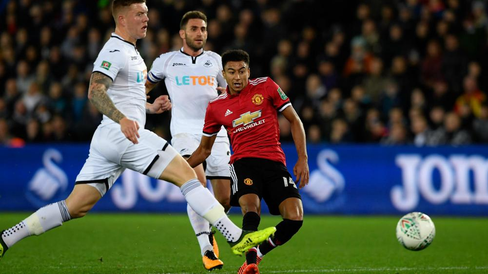 66df4b840 Swansea City 0 Manchester United 2  Lingard double gets Red Devils ...