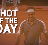 Shot of the Day - Federer's superb lunging volley