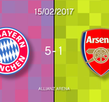 Bayern Munich 5-1 Arsenal in words and numbers
