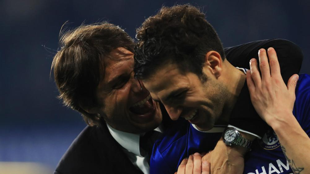 Antonio Conte and Cesc Fabregas - cropped