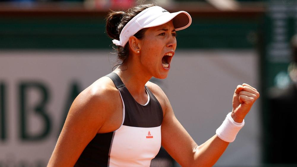 It's misery for defending champion Garbine Muguruza