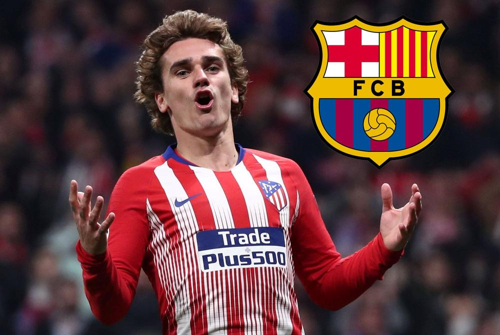 Antoine Griezmann, who Barcelona has set their sights on as a signing target, reacts to a play on the soccer pitch with his  arms wide | beIN SPORTS USA