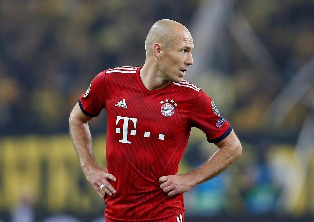 Bayern Munich's Arjen Robben during a Champions League group stage clash with AEK Athens, October 23, 2018 | beIN SPORTS USA