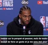 "Finals - Leonard : ""Durant reviendra fort"""