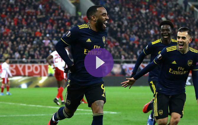 Olympiacos 0 1 Arsenal Late Lacazette Goal Gives Gunners Advantage