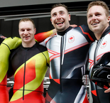 Canada, Germany share gold in thrilling two-man bobsleigh