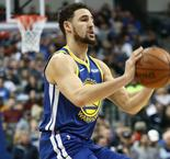 Thompson sets NBA record with 10 straight made three-pointers to open game