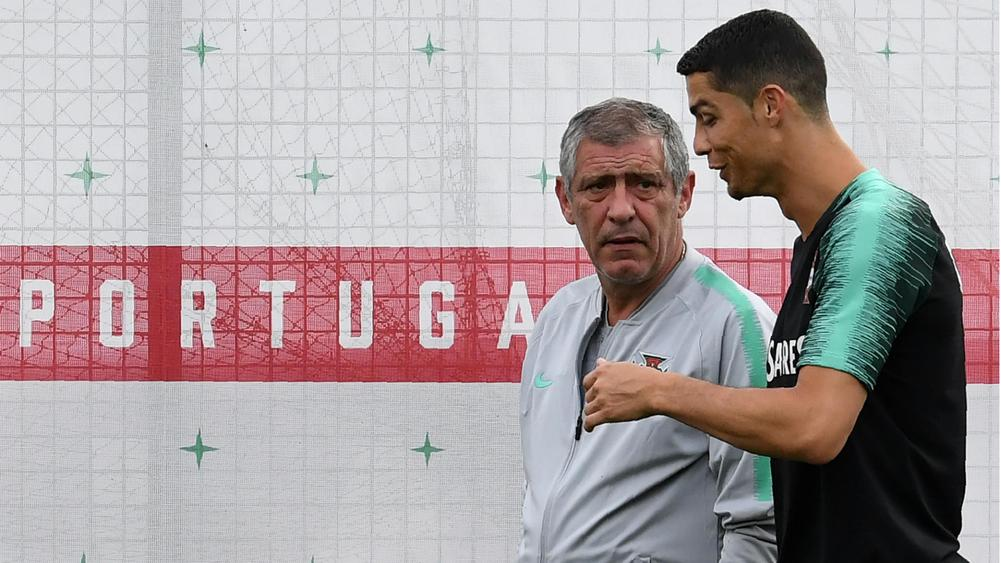 Fernando Santos Cristiano Ronaldo Portugal training session 21062018