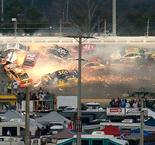Hamlin Wins Crash-Filled Daytona 500