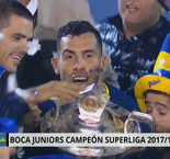 Tevez lifts Superliga trophy with Boca