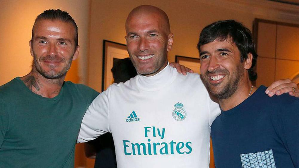 8303cf74d Real Madrid friends reunited  Zinedine Zidane