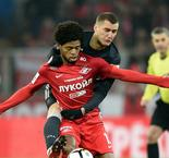 Luiz Adriano sees red as Spartak crash out of Champions League