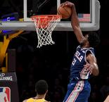 Lakers fall to 76ers, Harden's double-double not enough