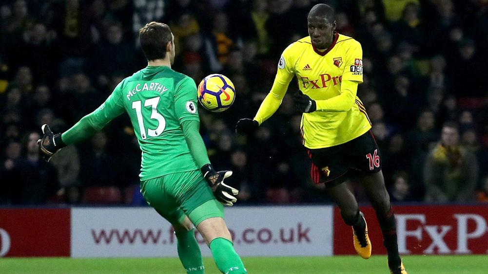 Watford's Abdoulaye Doucoure scores equaliser against Southampton with hand