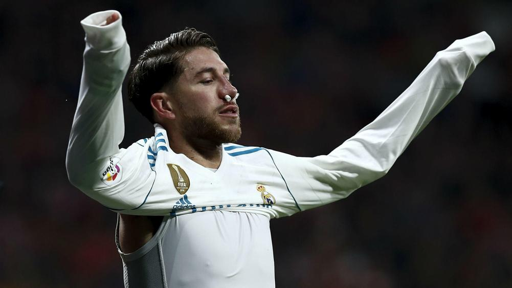 Ramos suffers broken nose in Atletico-Real derby