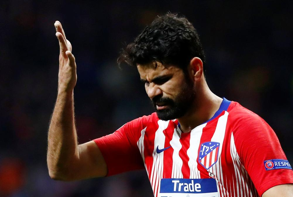 Atletico Madrid's Diego Costa reacts during Champions League round of 16 first clash against Juventus