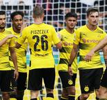 Aubameyang hits hat-trick for Dortmund