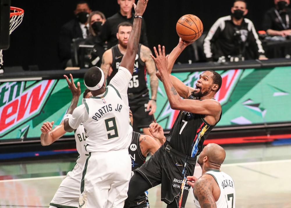 NBA playoffs 2021: Durant leads Nets' blowout of Bucks for ...